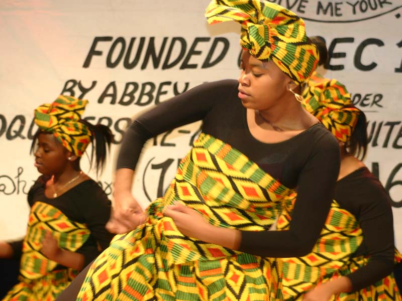 African Dancers doing a live performance 2005