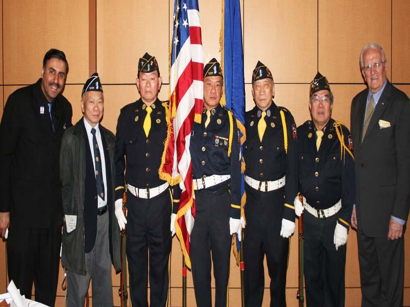 Dr. Abbey Muneer with the Korean Veterans & POW