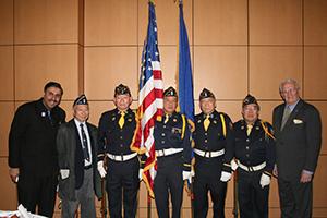 Dr. Abbey Muneer with the Korean Veterans_&_POW
