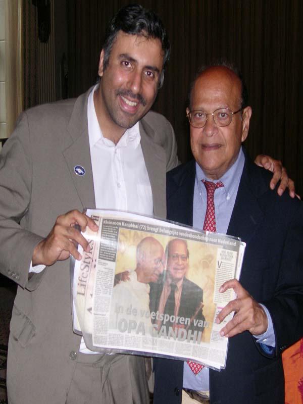 Dr. Abbey with Kanu Bhar Gandi Grandson of Gandi 2001