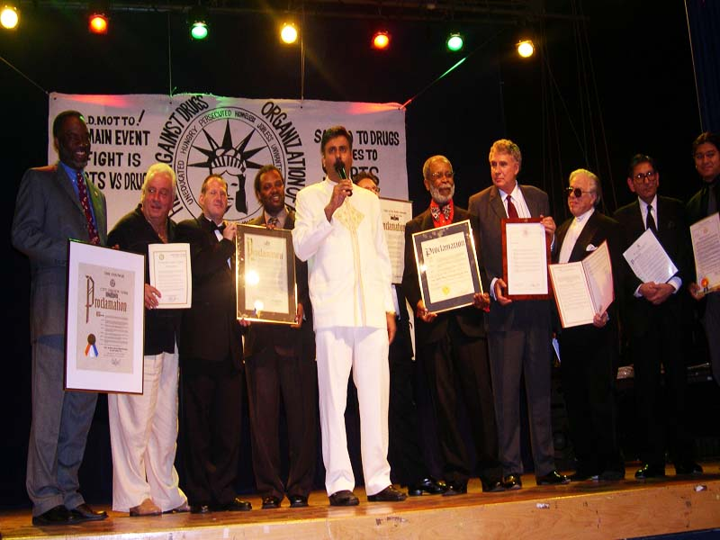 Dr.Abbey honored by Govt Officials 2005