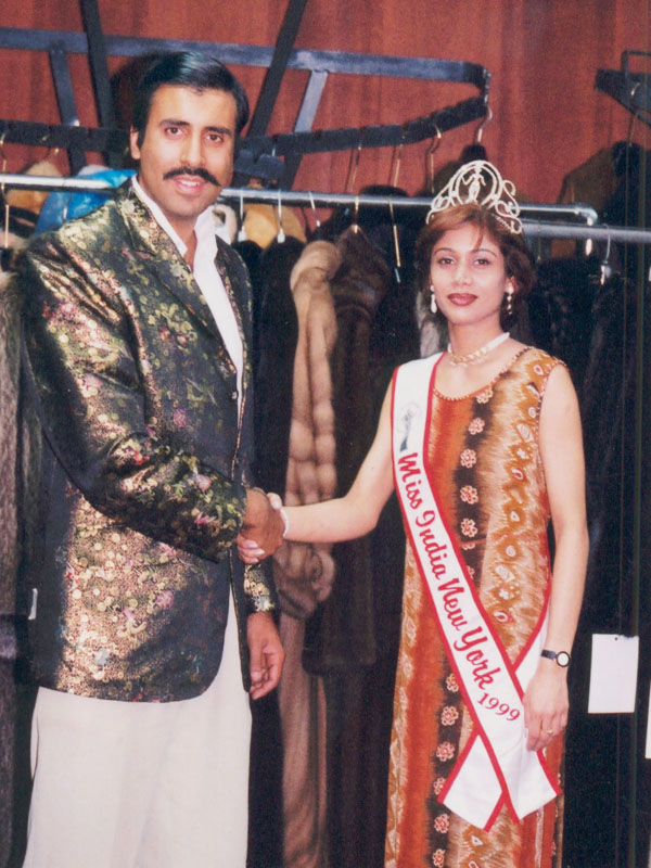 Dr.Abbey with Miss India 2000