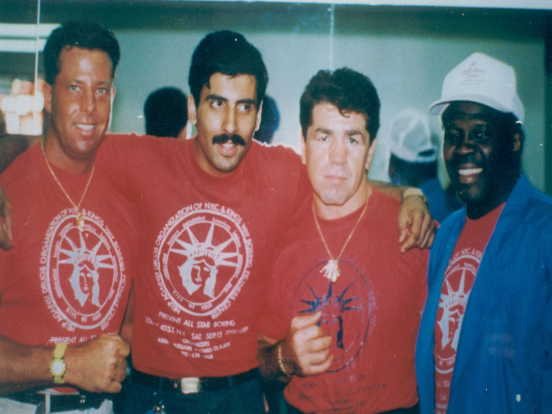 Dr.Abbey with Vito & Emile Boxing Greats 2000