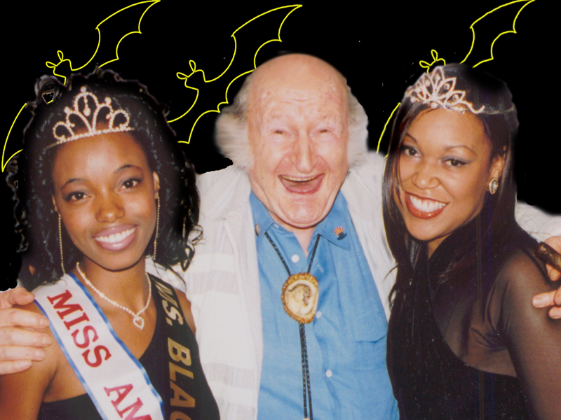 GrandPa Al Lewis with Beauty Queens 2002