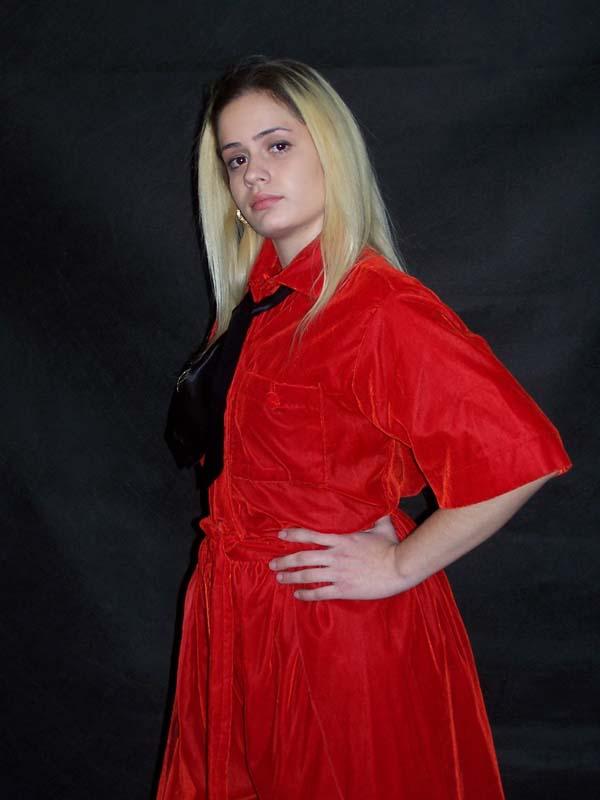 Model Patricia wearing Bee Cee Designs 2003