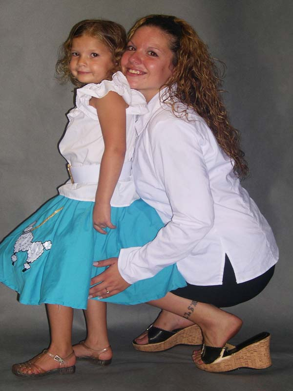 Mother Michelle & Anna modeling for HAD 2000