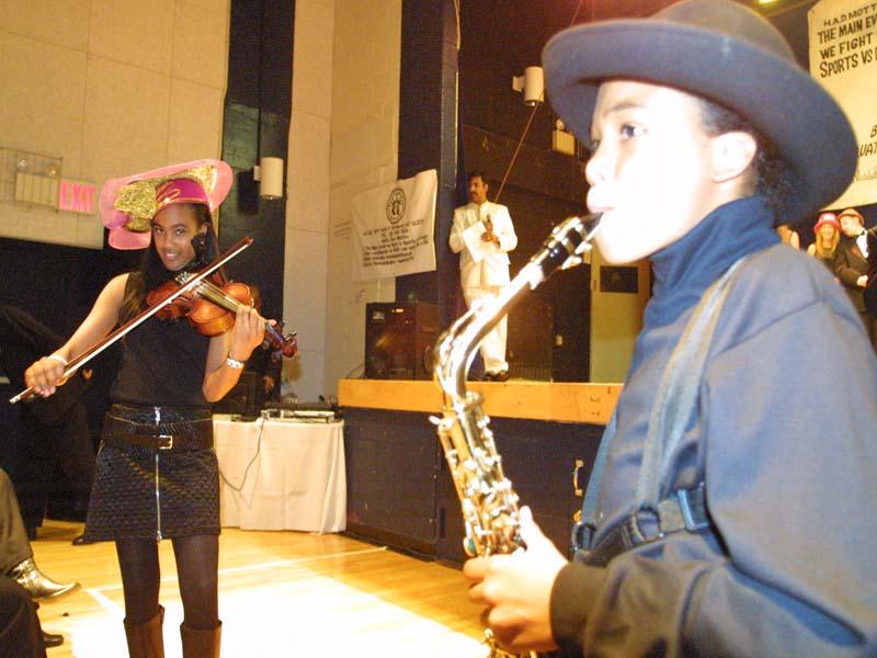 Pierre Doing a live Saxaphone Performance 2005
