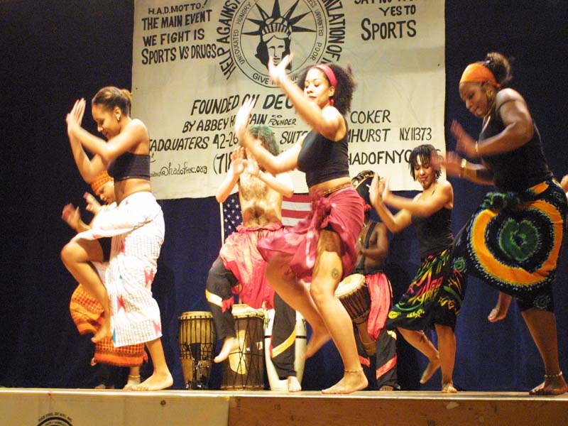 African Dancers doing a live performance 2003