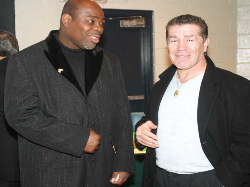 Boxing Greats Iran Barkley & Vito Anterfermo at Gala 2003