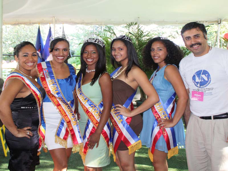 Dr. Abbey with Dominican Beauty Queens