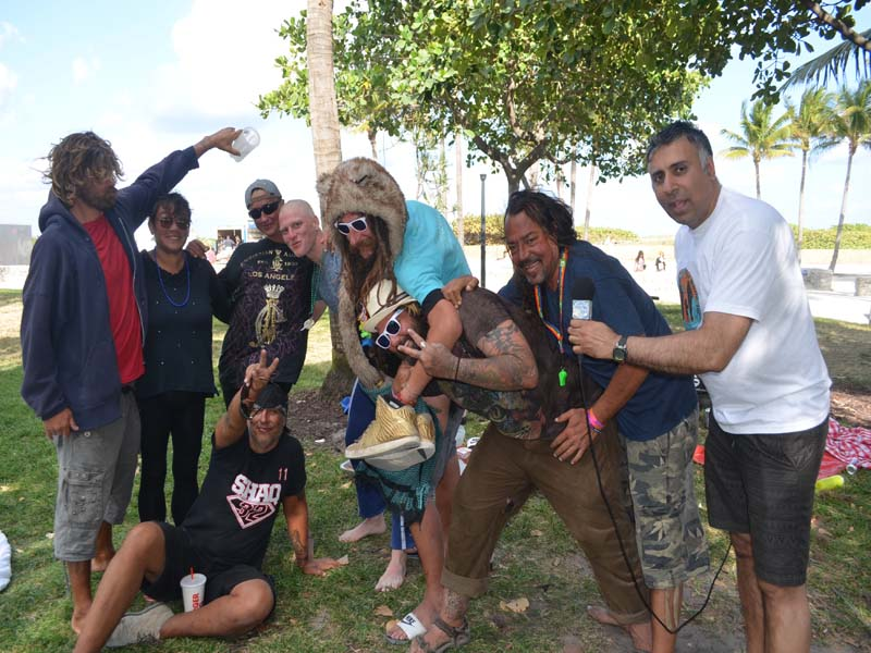 Dr.Abbey With LGBTQ Homeless of South Beach Miami
